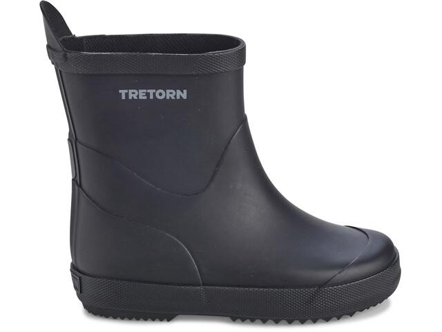 Tretorn Wings Monochrome Rubber Boots Kids Black
